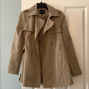 Express tan trench coat size S